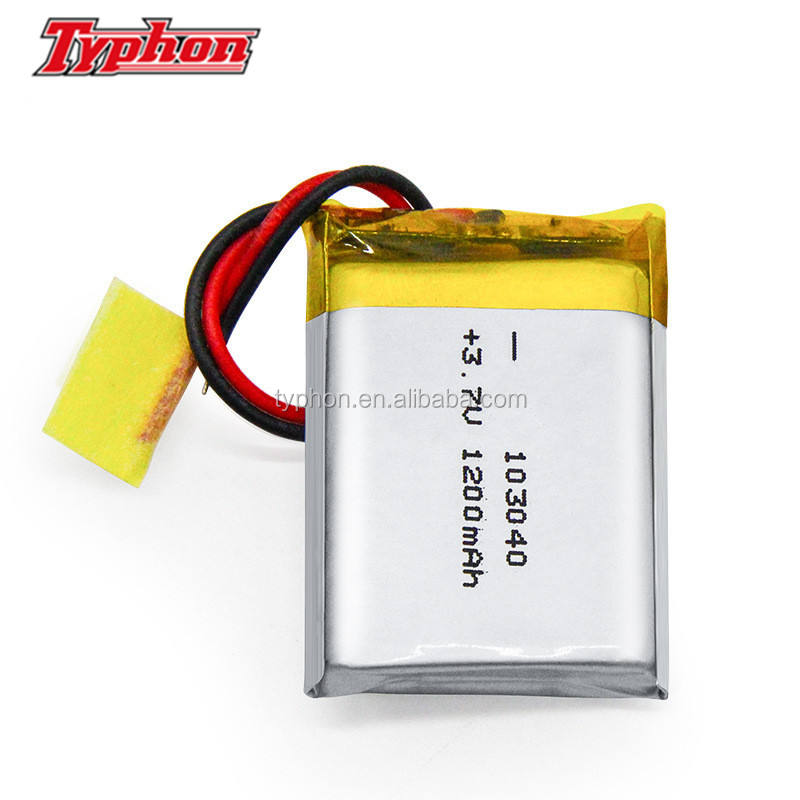 lithium polymer battery 3.7v 103040 1200mah lithium ion polymer lipo battery 4.44wh for GPS/POS machine/digital
