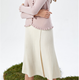 Ladies' new design knitwear pleated long women's cashmere knitted skirts