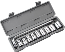 Auto 11 pieces plastic case packing mini small car repair portable socket tool set tool kit