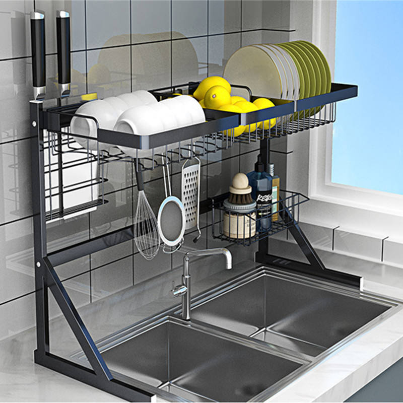 2020 High Quality Stainless Steel Over Sink Dish Drying Rack Drainer Shelf For Kitchen Wholesales