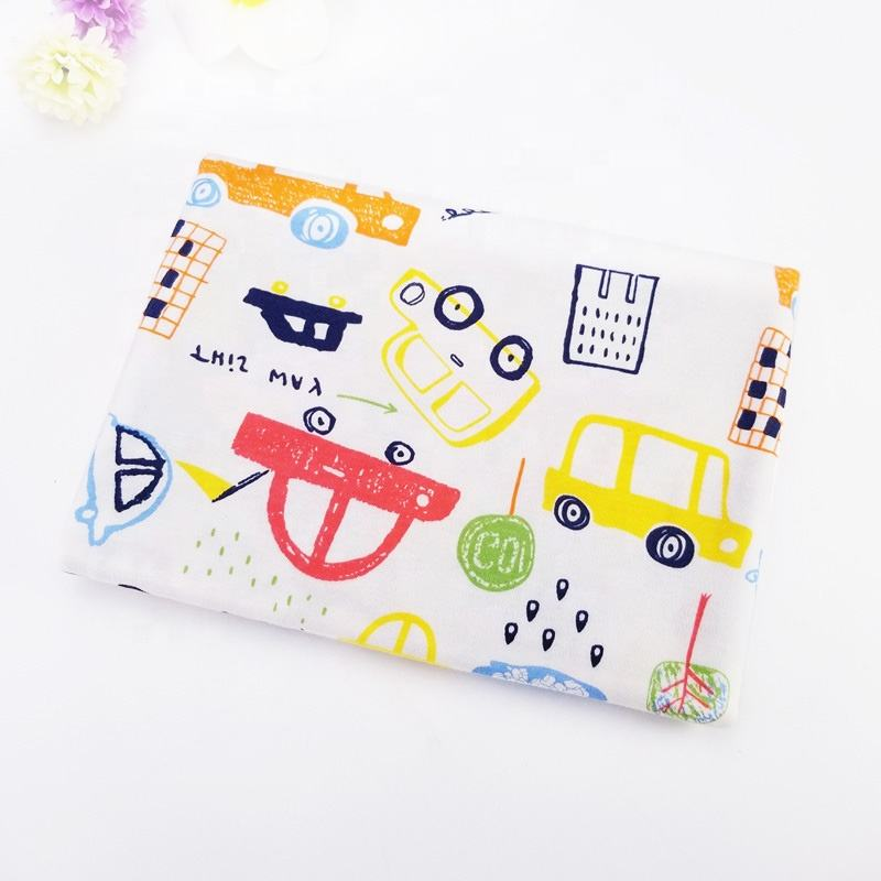 Cartoon print baby 100% cotton knitted jersey interlock fabric wholesale