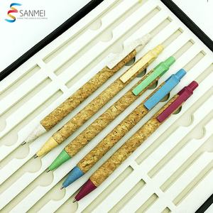 Promotional writing instruments manufacturer 100% recycle cork wood pen for giveaway events