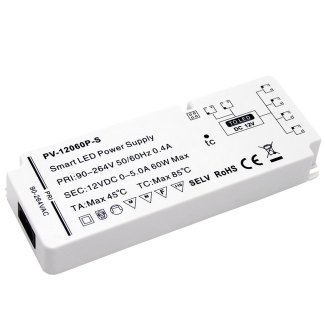 High quality TUV-CE standard 24V 60W ultra-thin indoor power supply with sense