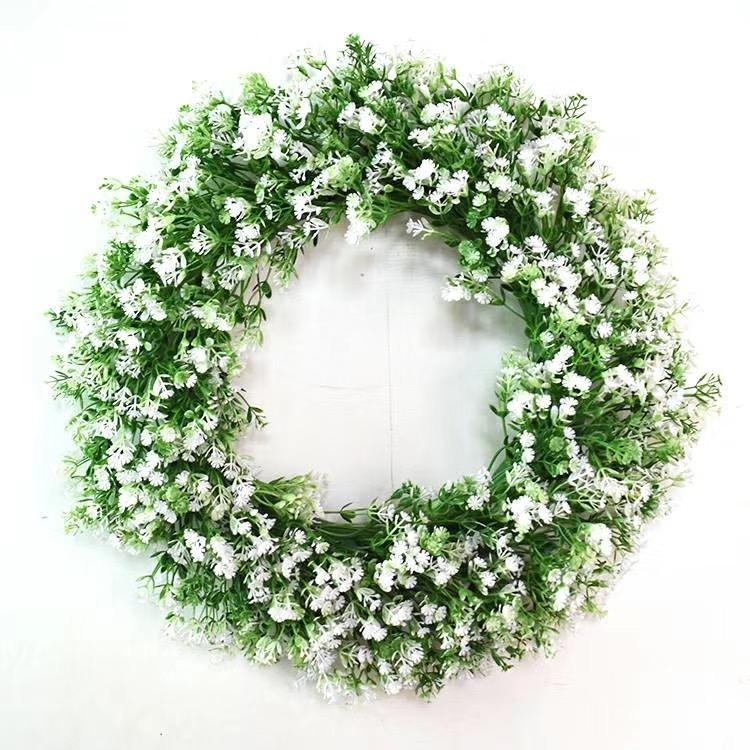Artificial Green Leaves Window Decoration Grapevine Wreath
