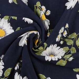 Good quality super soft high quality colorful beautiful floral flower 100% rayon poplin fabric for blouse