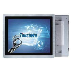 Waterproof 19 inch embedded TFT capacitive touchscreen industrial monitor with VGA HDM-I