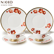 Japanese professional elegant bone china ceramic tea cup set for many occasions