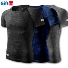 High Quality Wholesale Cheap Men Cotton Spandex Men Muscle Reflective Sport Gym Fitness Running Quick Dry Fit Mens T Shirt