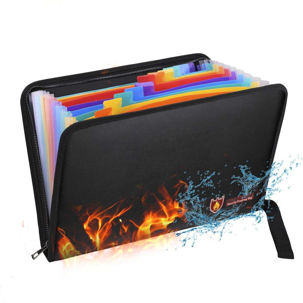 Hot selling high quality office/school use fireproof waterproof document folder