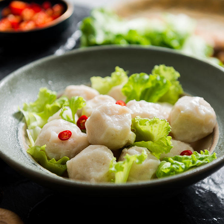 linchuan Food Fish Ball handmade vege traditional frozen fish ball halal fish balls