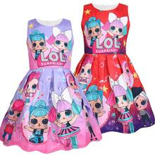 2020 New lol Dress Cartoon Print Girl tutu Dress Sleeveless Summer New Brand High Quality