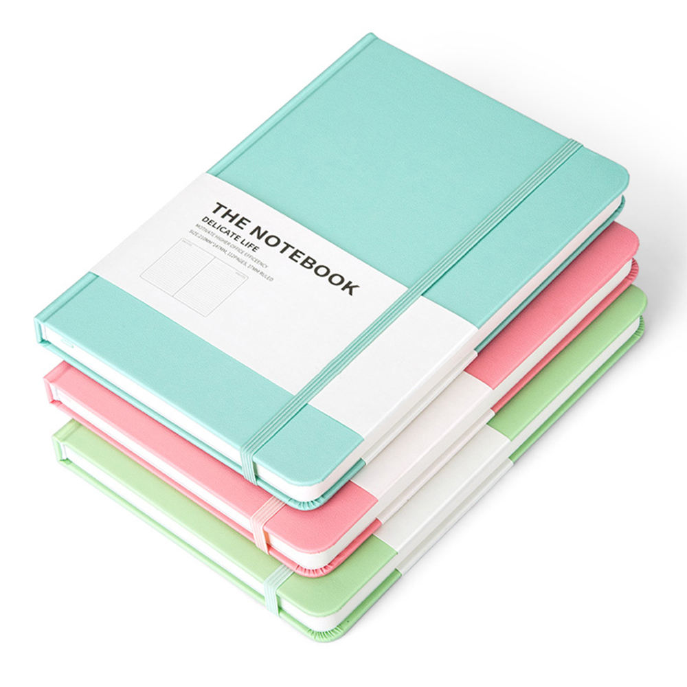 Factory Cheap Moleskin Notebook Printed Colorful Ribbon Student Leather Diary