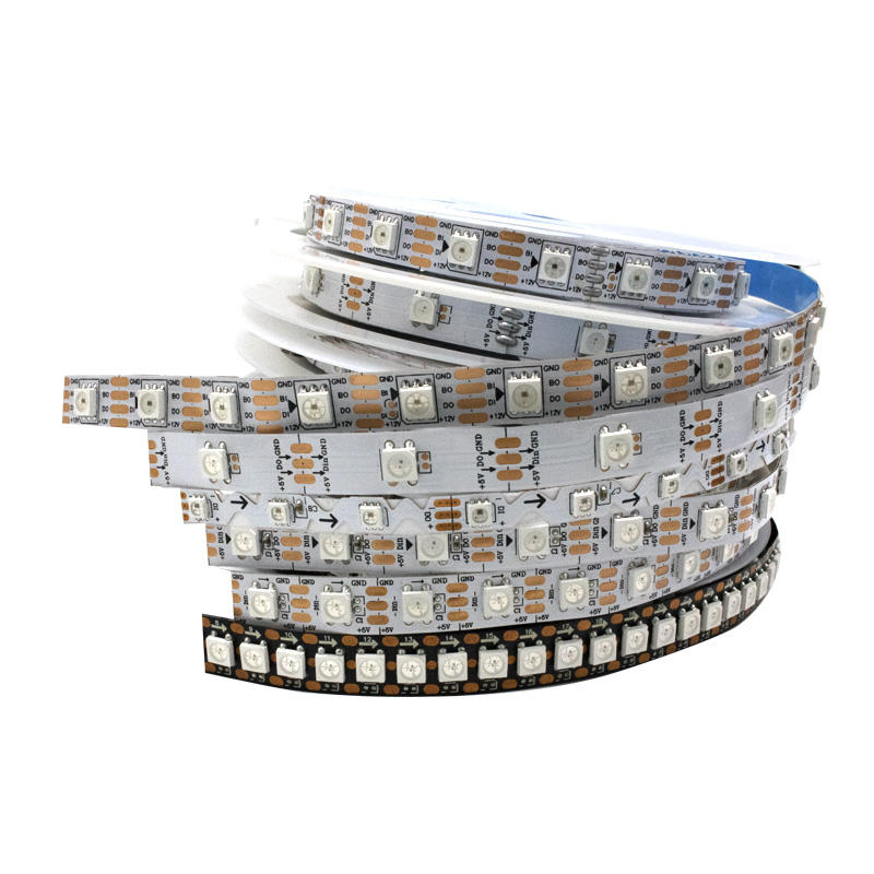 5v 12v 5050 ws2811 rgb dmx512 144 led strip ws2812 controller 5m per roll flexible addressable rgbw ws2812b led strip