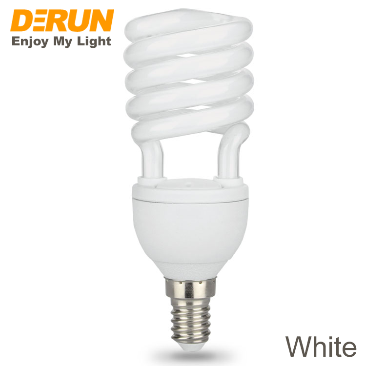 High Lumen Soft Glass 9W 11W 15W 20W 25W 220V 240V 110V 130V 5000 hrs E27 Energy Saving Half Full Spiral CFL Lamps , CFL-SPIRAL