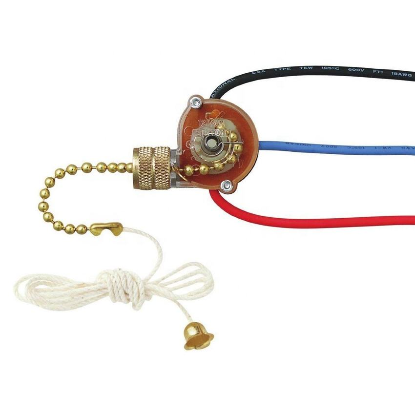 Zing Oreille ZE 110 ventilateur de plafond lumière lampe remplacement chaîne de traction interrupteur à glissière