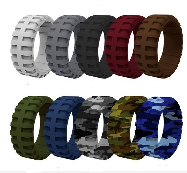 10pcs medical grade silicone finger ring tire shape silicone mens ring