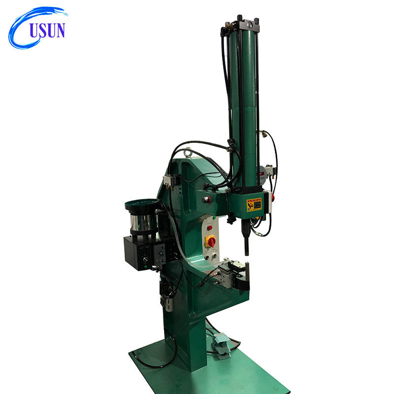 New arrival Usun Model : ULYP 4-8 Tons automatic feeding fastener insertion press machine for bolts or nuts