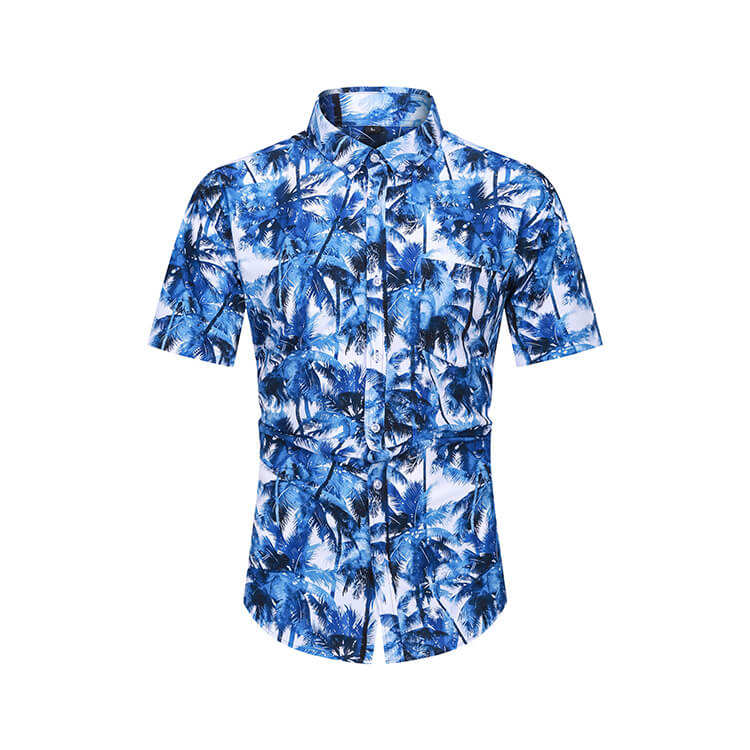 Newest Digital Print Hawaiian Man Shirt Custom Printed Casual Button Down Pineapple Shirts For Men