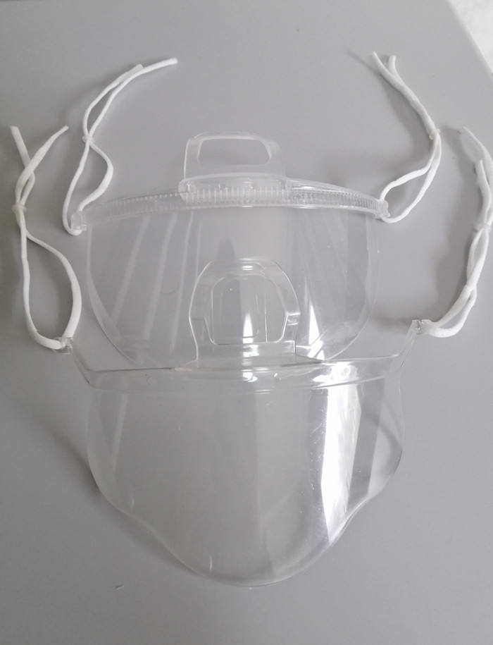 Separate Type Anti Fog Food Service Transparent Mouth Cover