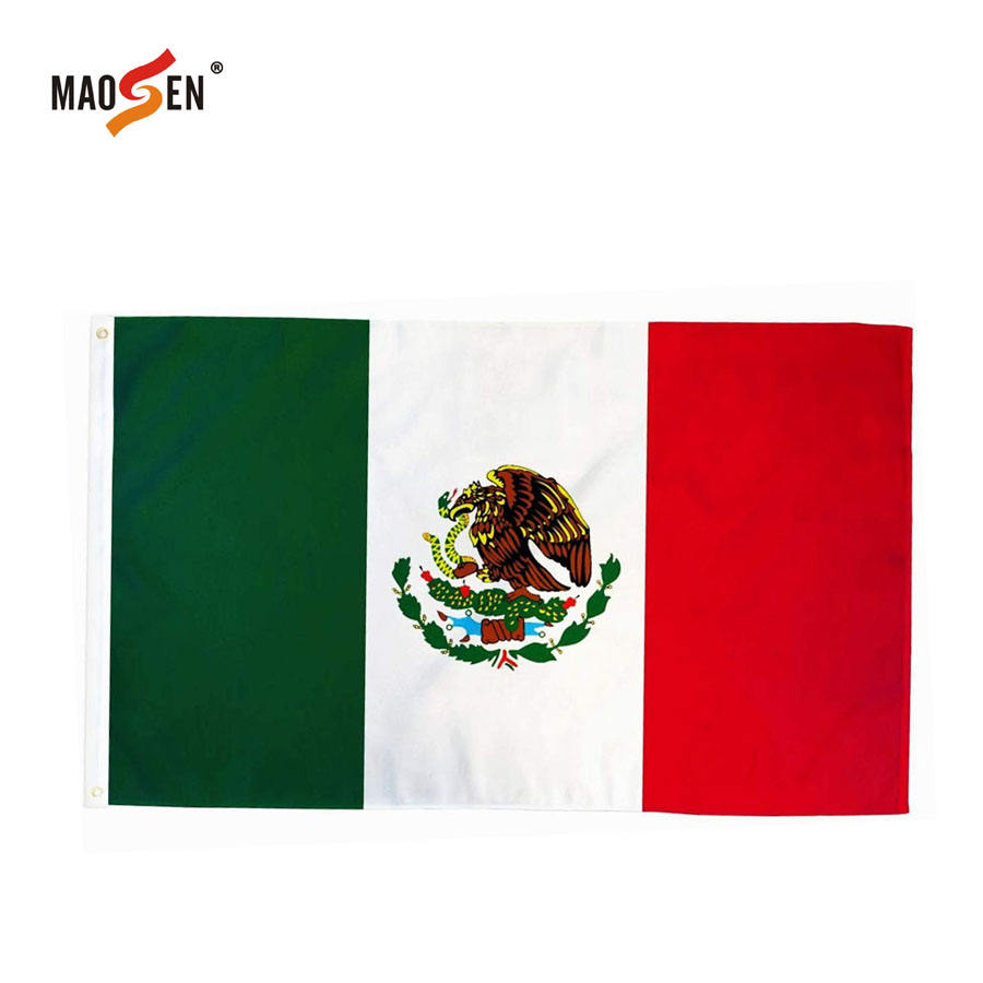 100% Polyester Top quality Printed Pakistan Mexico Chile Flag