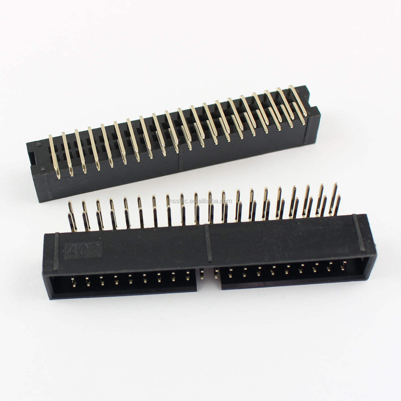 2.54mm 2x20 Pin 40 Pin Right Angle Male Shrouded IDC Box Header Connector