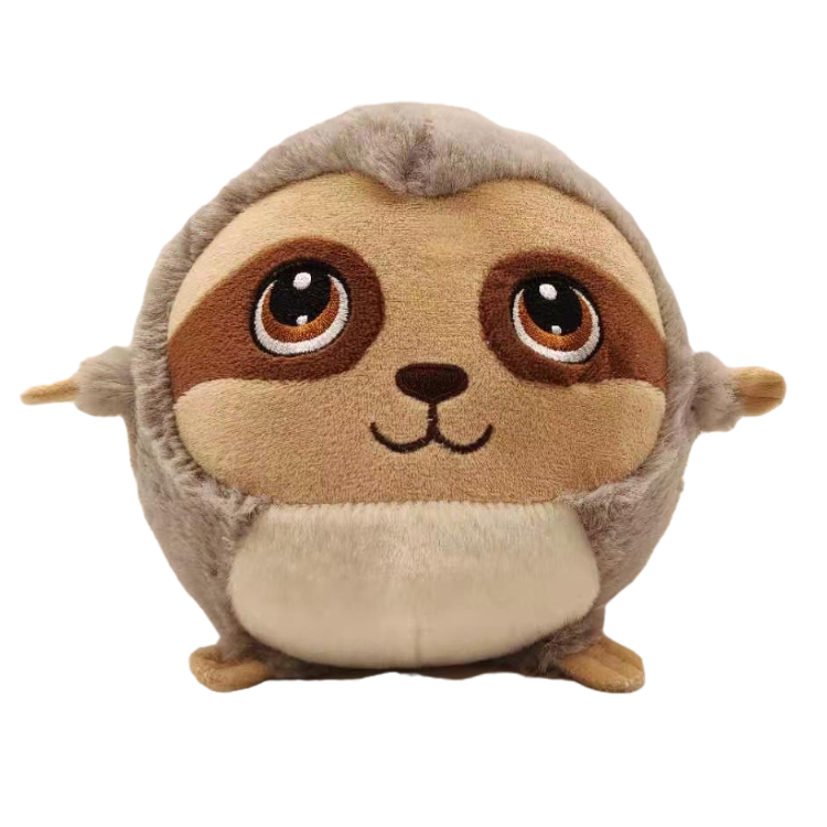 Wonderful design making your home warm and cozy round cute lovely sloth plush toys accompany with you during travel