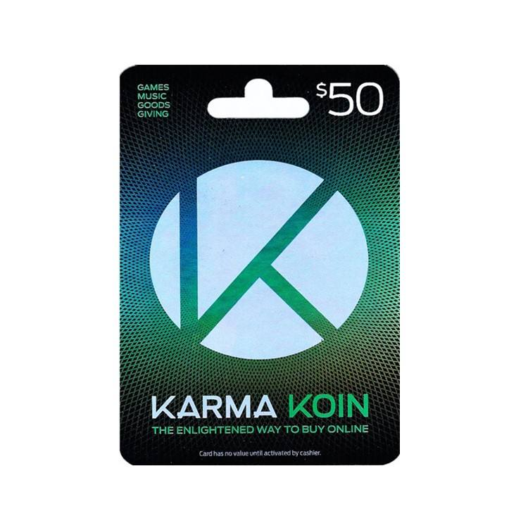 Email deliver 50US karma koin gift card