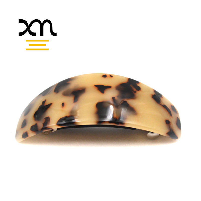 custom vintage french hair barrettes acetate tortoiseshell hair barrette clip accessories handmade resin barrette for thick hair