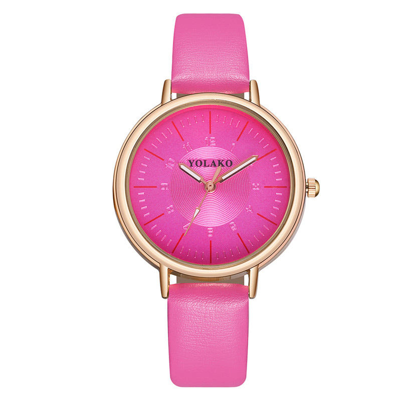 WJ-8701 Foreign Trade Hot Sales Simple Lady Quartz Leather Watch Fashionable Fine Band Digital Dial Women's Wholesale Wristwatch