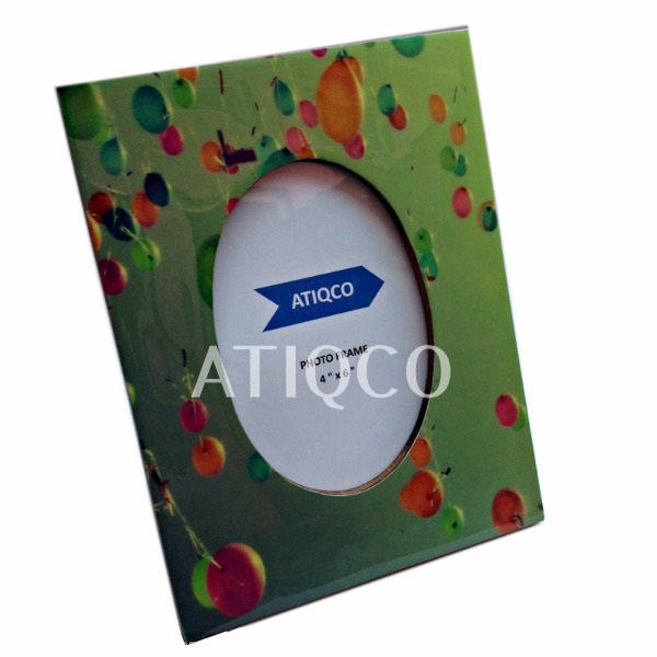 Branded Wooden Photo Frame oval window Painted