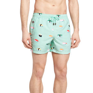 Custom cartoon printing mens Swimwear Trunks boys swimming shorts polyester beach shorts Wholesale casual shorts fifth pants