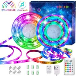 Remote Control 16.4ft 32.8ft Dynamic RGBIC Color Changing Ch