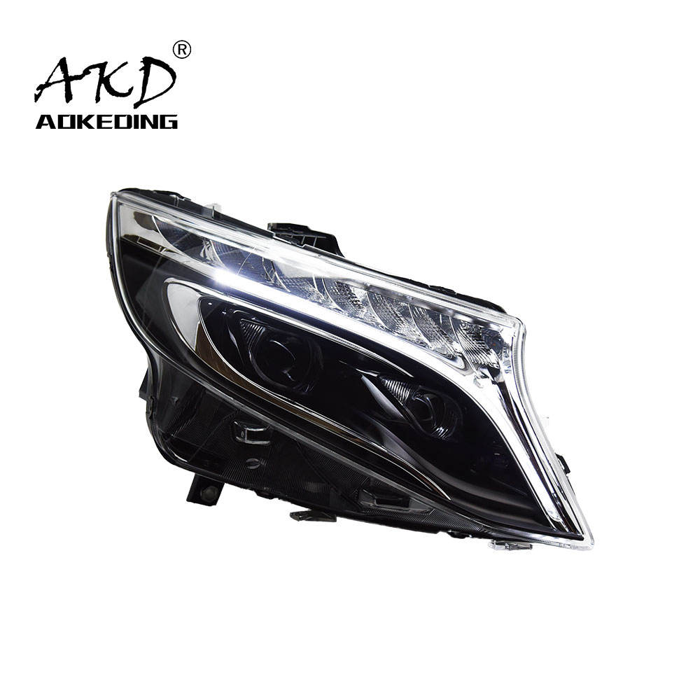AKD Car Styling for Vito Headlights 2016-2020 New Vito LED Headlight DRL Head Lamp Low Beam High Beam ALL LED Accessories