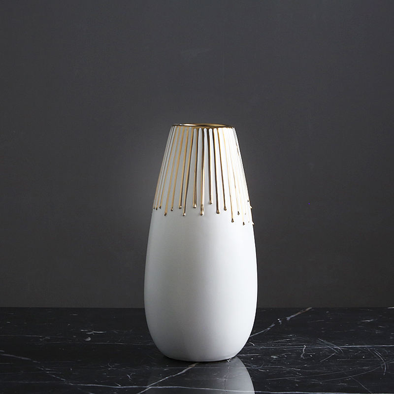 Hot Selling Good Quality Home Goods Decoration Antique Modern Luxury Hotel Vase White Ceramic