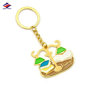 Longzhiyu 14 years manufacturer custom logo Enamel Key Ring Metal keychain