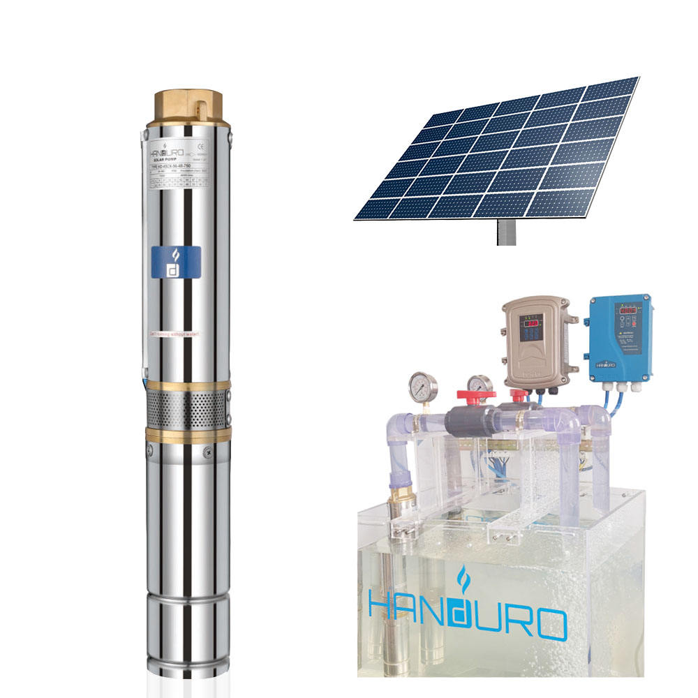 HD-4SC6-56-72-750 deep well 1 hp dc solar pump submersible pumpsolar pumping machine and panel/solar water pump