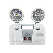 Ip20 Degree Protection 3hrs Rechargeable Twin Spot Led 2w Exit Sign American Ce Approved Fire Emergency Lamp