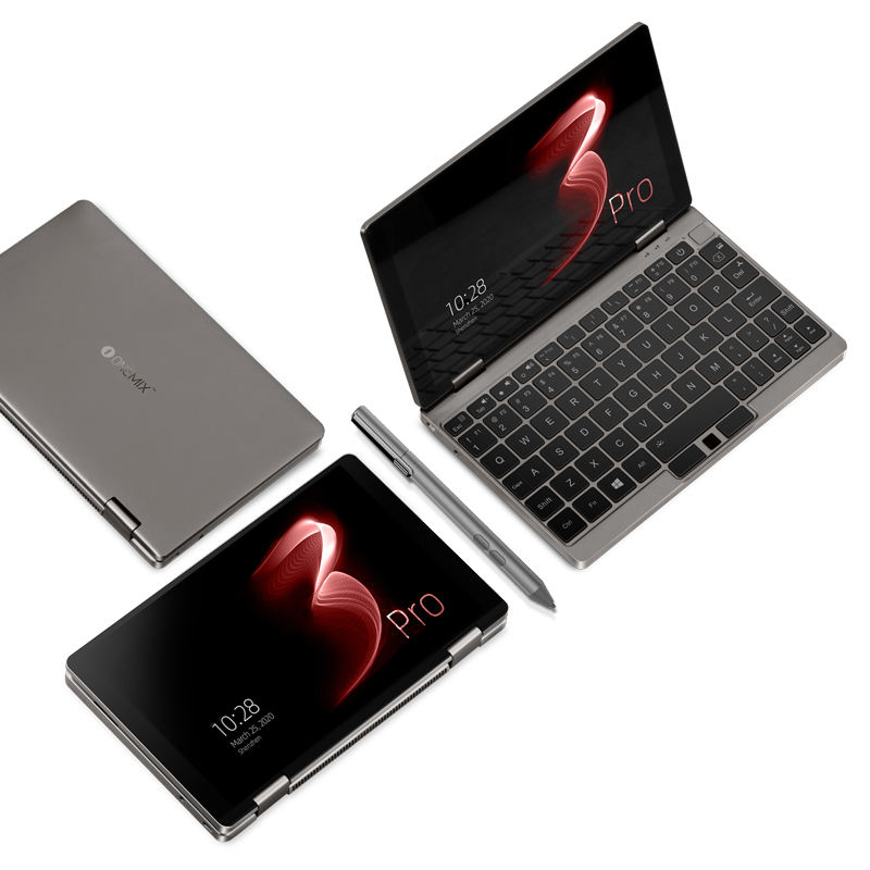 One <span class=keywords><strong>Netbook</strong></span> One Mix 3S Edisi Platinum PC Saku 16GB/512GB PCI-E SSD 8.4 Inci dengan Pena Notebook Game Genggam