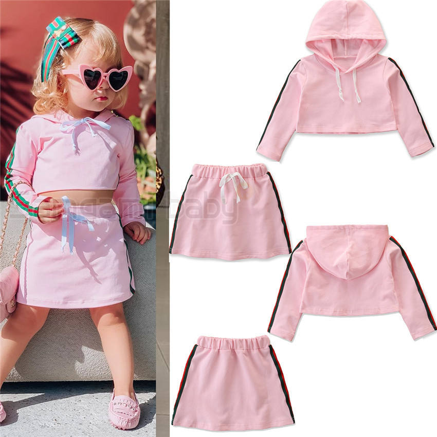 Baby Kids Girl Princess Clothes Set Cotton Hooded Tops+Skirt Dress 2pcs Outfits Set Children Party Suit Christmas Costume