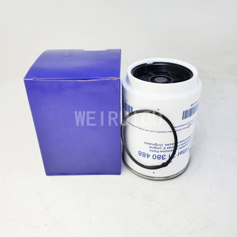 spin on excavator engine oil water separation fuel filter 21380488