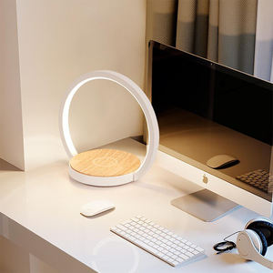 Modern Home Decoration QI Wireless Charging Wireless Speaker Touch Desk Night Lamp Touch LED Table Light