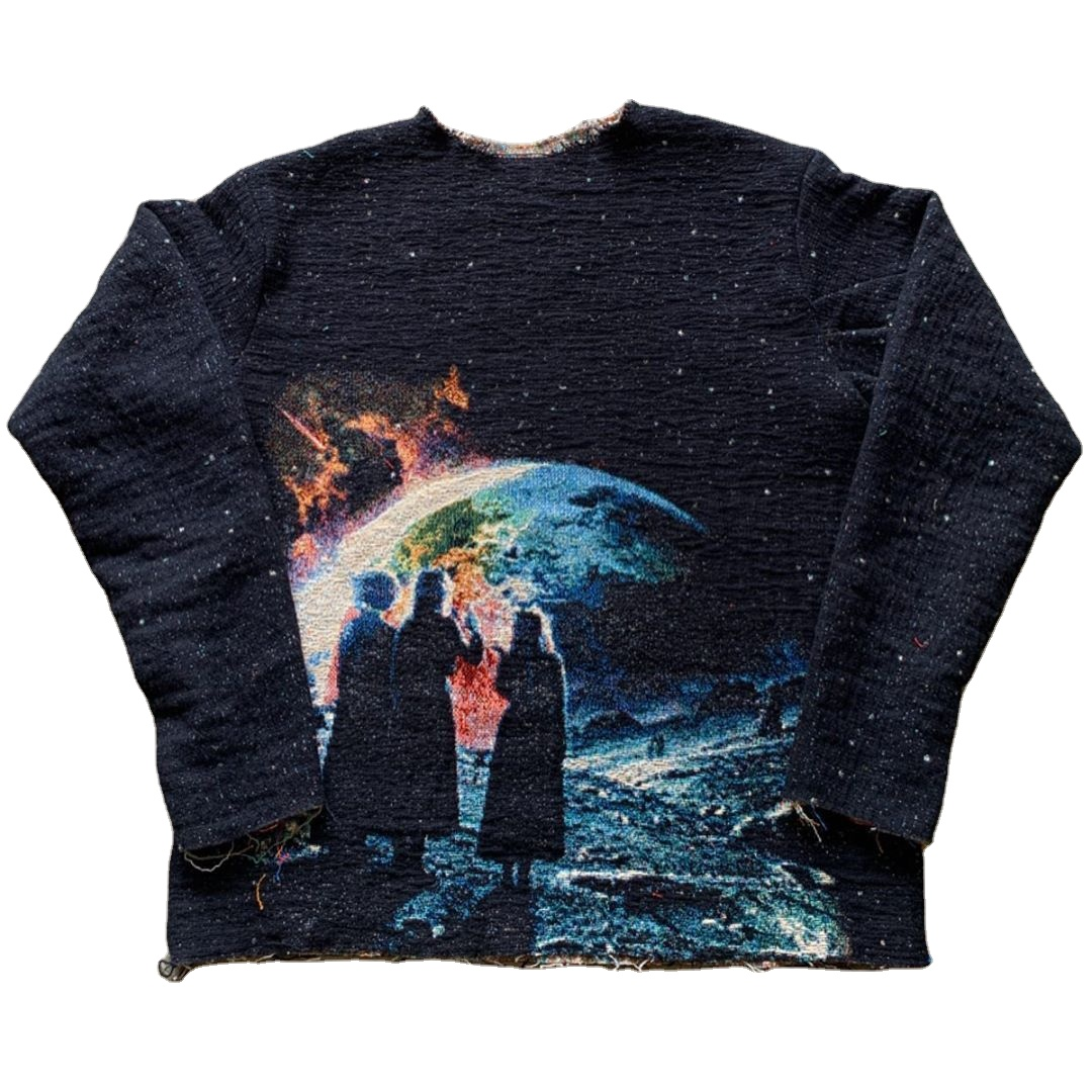 Wholesale China Factory Customized Woven Tapestry Blanket men Sweater sweatshirt hoodie