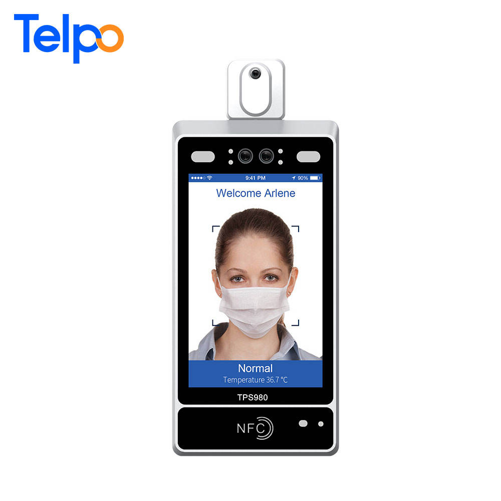 Telpo face recognition machine turnstile door access system with digital fever screening for fever