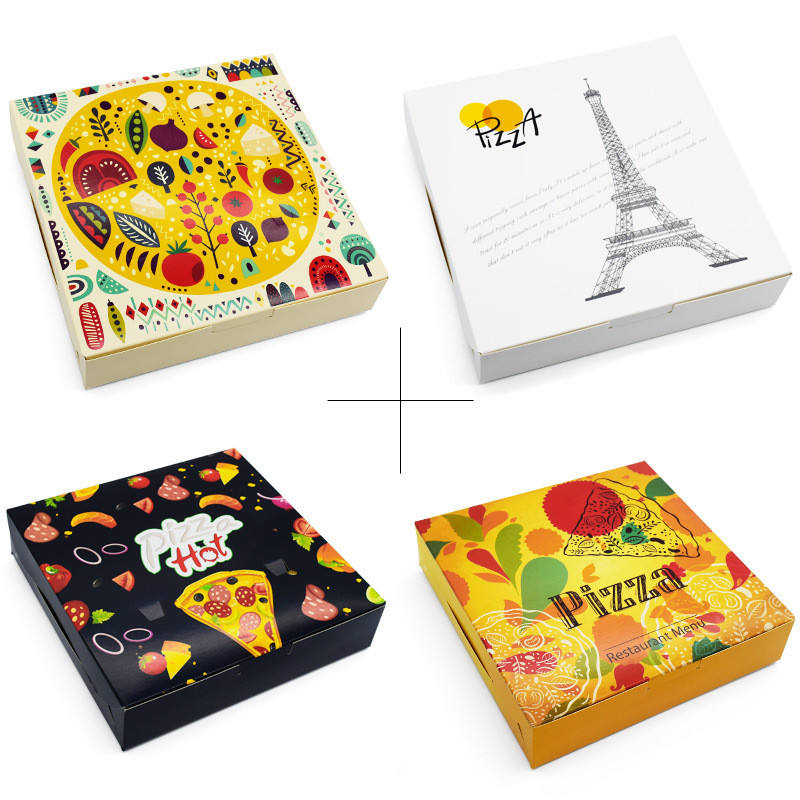 Wholesale Custom Printed 8 10 12 Inch Reusable Carton Paper Packaging Cheap Pizza Boxes