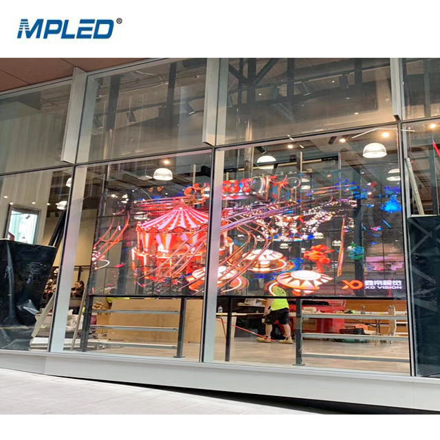 MPLED P3.91 P7.81 Glass Tv Curtain Price Indoor Transparent Led Display Screen Video Wall Panel