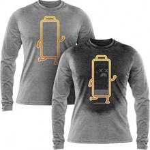 RUNNING OUT OF CHARGE - Hiding Message Men's Long Sleeve T Shirt