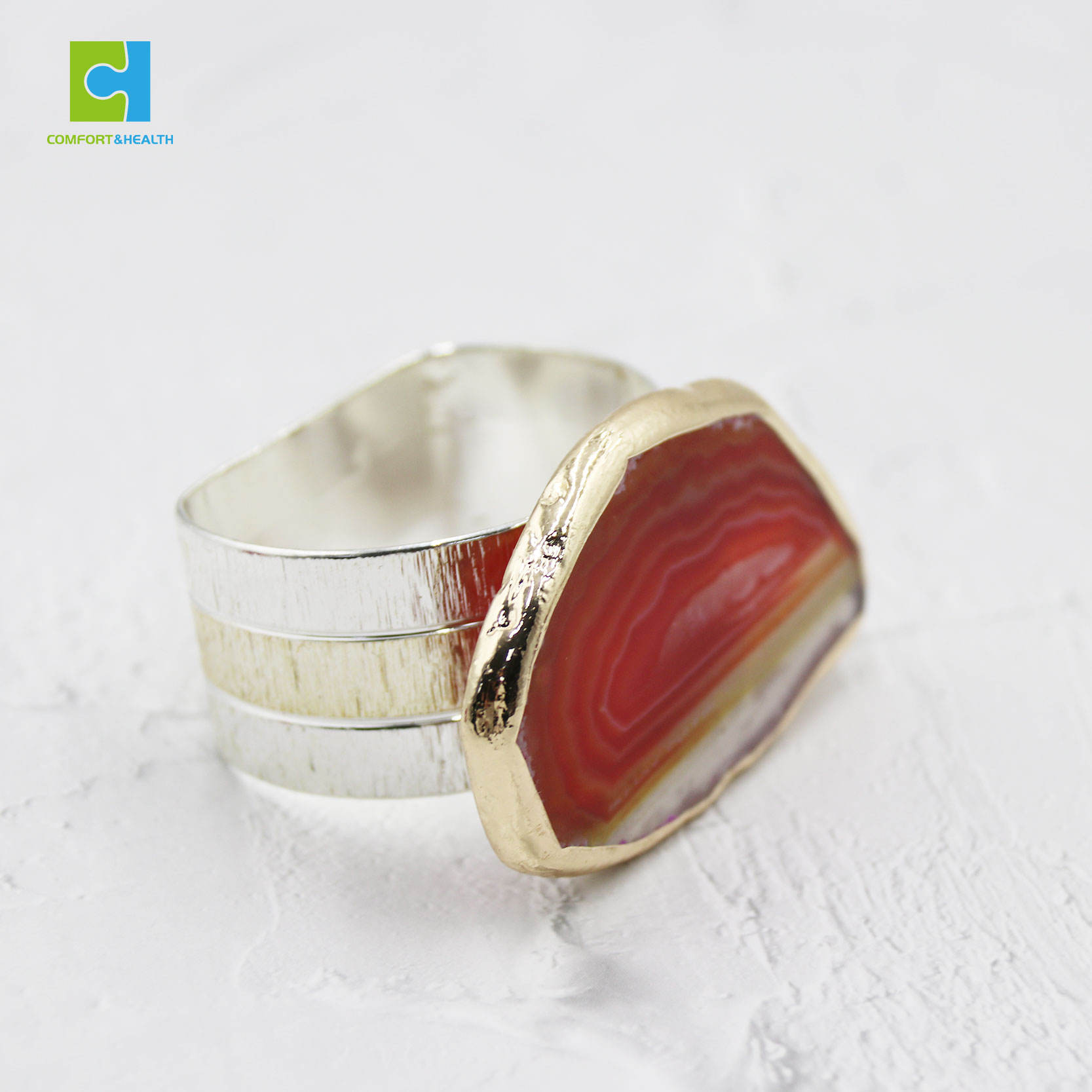 40mm Table Decoration Agate Stone Napkin Ring Napkin