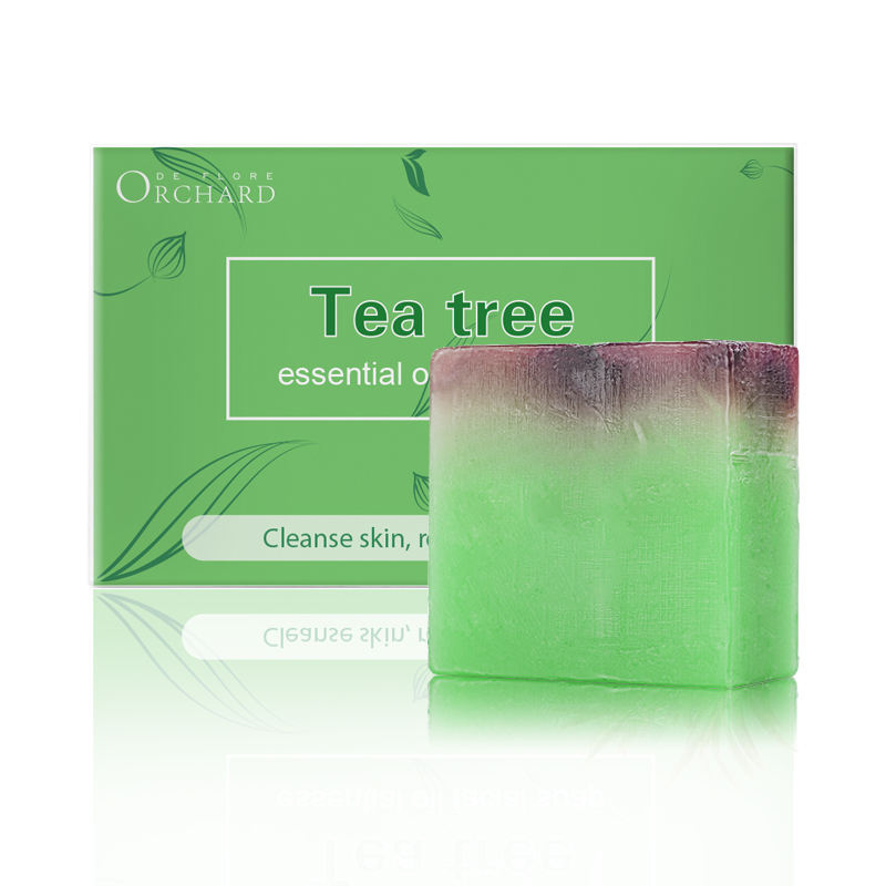 100% Natural Plant Tea Tee Facial Handmade Natural Soap Essential Oil Soap for Face Cleansing