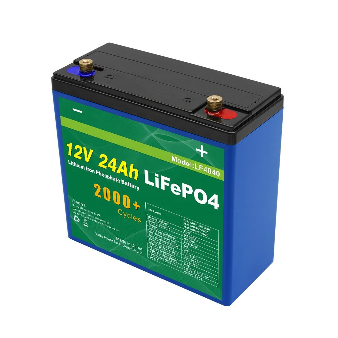 Customized Cheap Li-Ion Battery Pack Lifepo4 12v 18Ah 24Ah 32650 LiFePO4 Storage Batteries