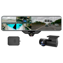 11.88 inch Dual Lens Car DVR Rear View Streaming 360 degree Fisheye Panoramic Ultra 1920P with GPS  HDR Night Vision Dual Camera